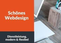 Schönes Webdesign - Dienstleistung, modern & flexibel